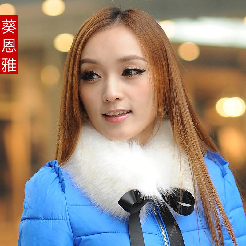 шарф Зимние новые вьющиеся волосы корейских моды, теплый мех воротника воротник воротник Шаль шарф шарф женщин