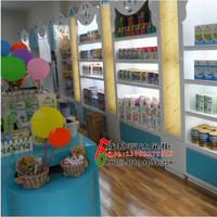 成都福达展柜 木制烤漆展柜 母婴店货柜 奶粉玩具展示柜 可定做