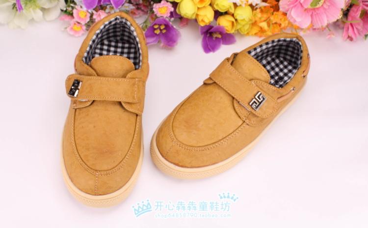 Детская кожаная обувь Other brands mnx1253 27-31 Для молодых мужчин Липучка Резина