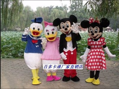 Mickey Mouse Cartoon Doll Clothing Donald Duck cartoon costumes performing