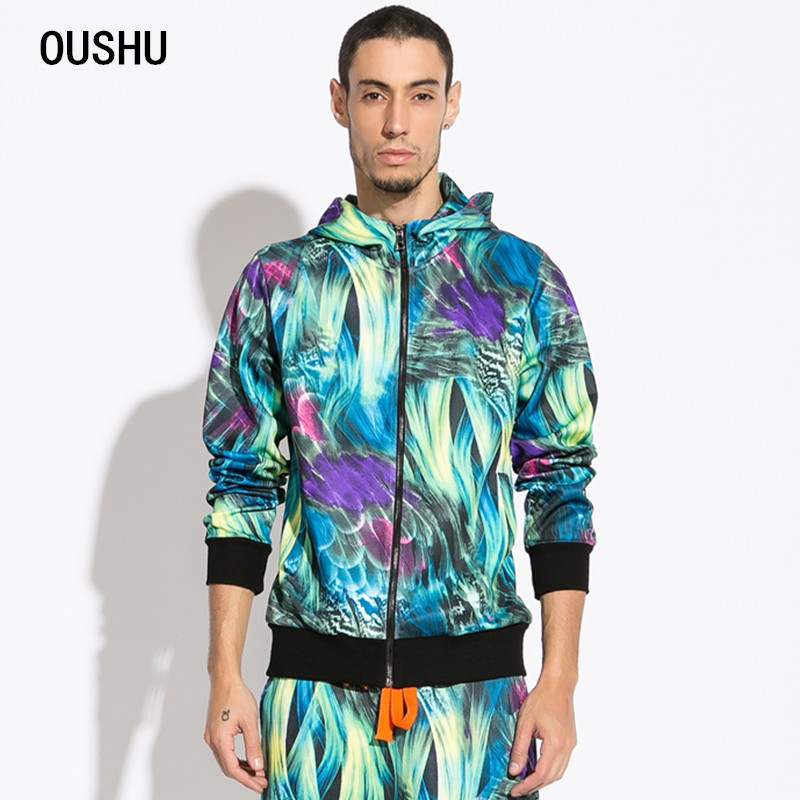 OS. new men's hooded fleece large fertilizer plus 2014 yards men's British printing coat  Taobao Agents