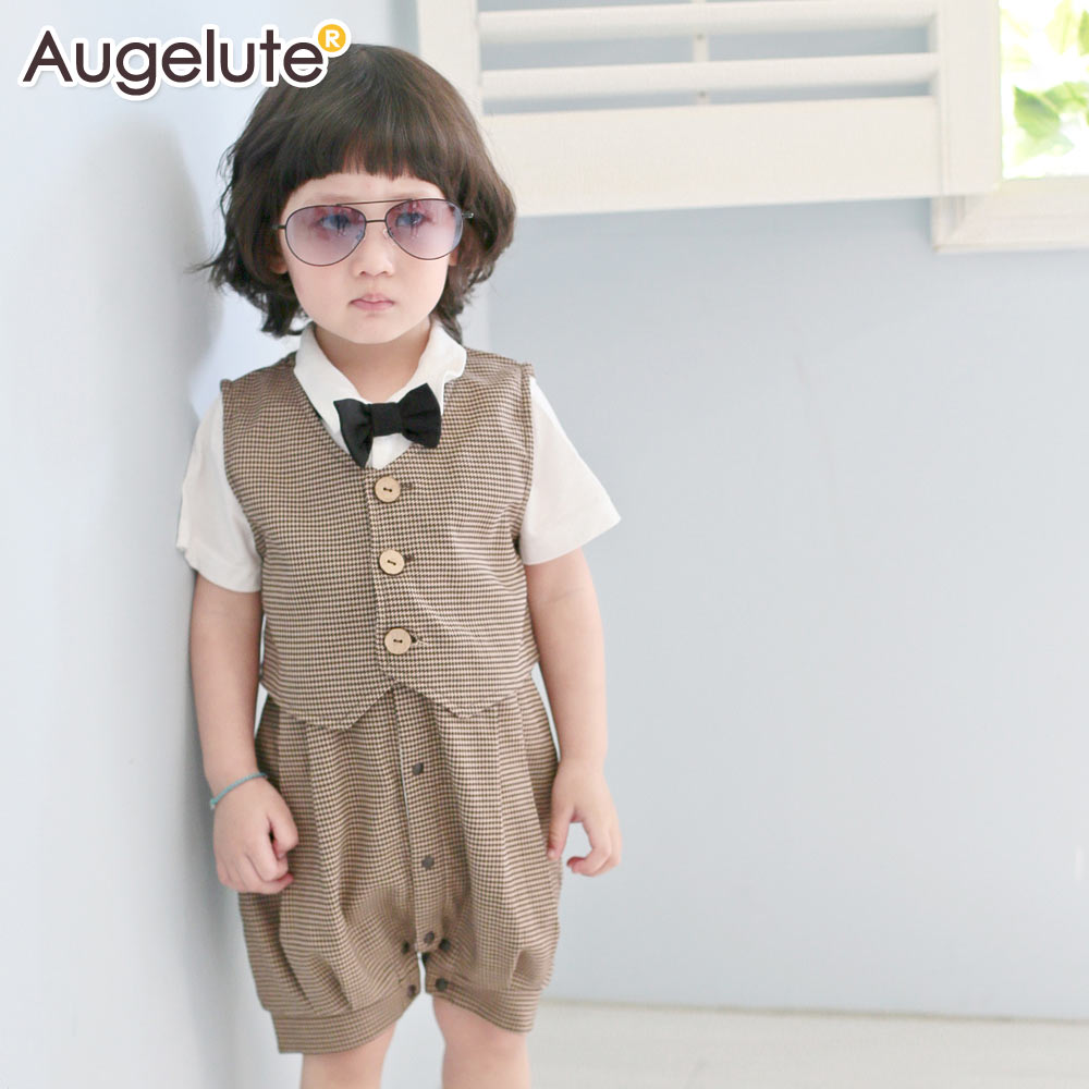 Augelute 2014 infants jumpsuit children climb clothes spring/summer  short sleeves Taobao Agents