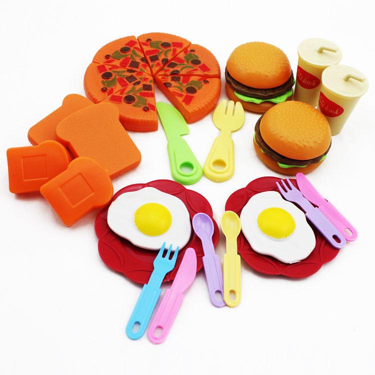 批发过家家玩具 套装 仿真蔬菜水果汉堡面包 幼儿园老师教具图片