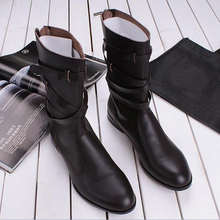 Luochen men footwear boots men's boots in 2012 New England leather boots Korean man boots