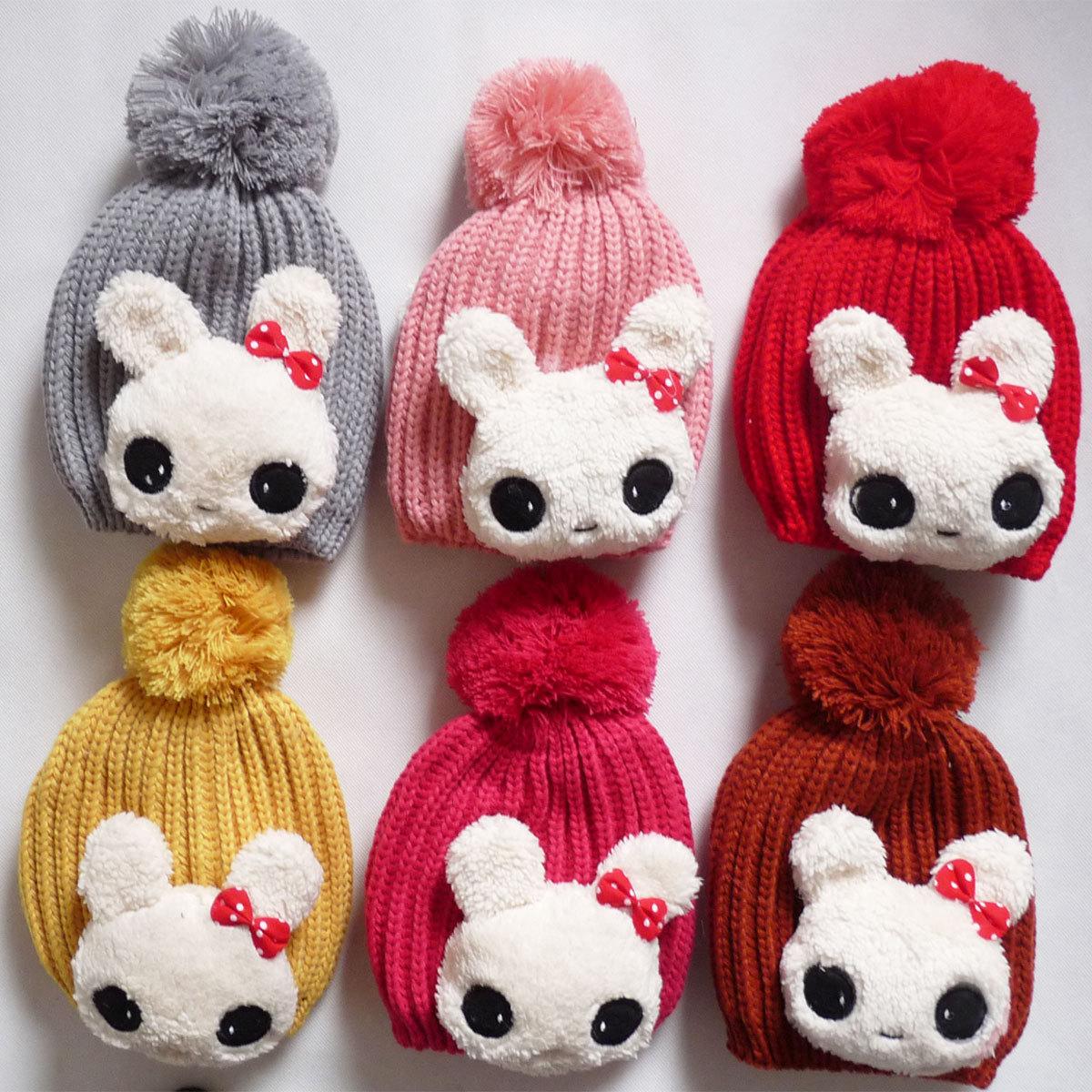 小兔子护耳帽_婴儿小兔子护耳帽线帽宝宝帽儿童卡通大兔帽