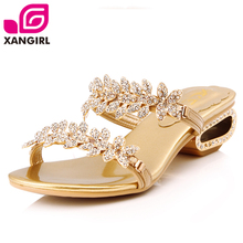 Incense child luxury diamond flower leather sandals and slippers women sandals shoes 272