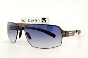 德国 ic! berlin 太阳镜 faris 石墨色graphite/clear nylon
