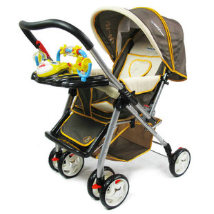 Three baby stroller baby stroller flat folding portable super wide BB car car umbrella car and buy a gift of eight