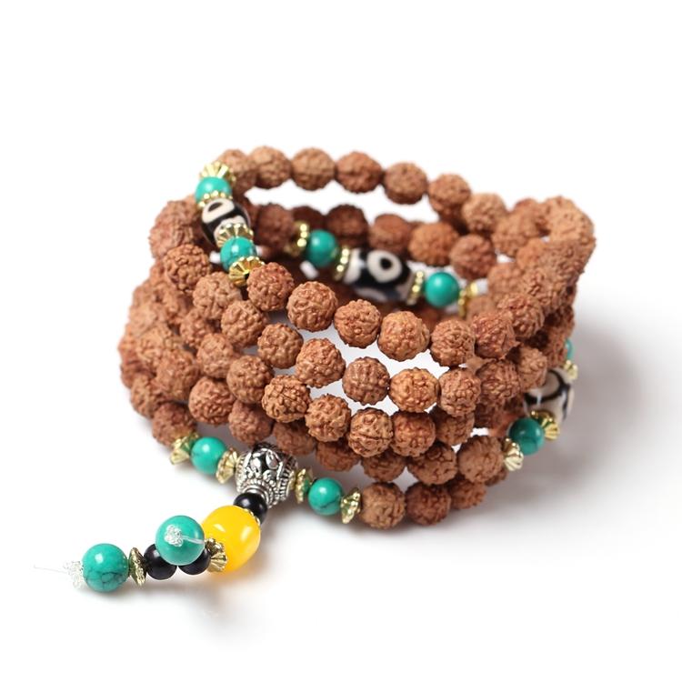 原创藏式矮桩小金刚菩提子108颗佛珠手链 念珠手串手珠图片