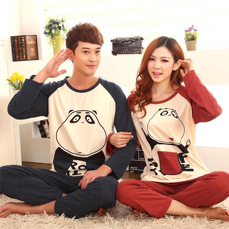 Пижама Любителей электронной почты осенью и зимой пижамы простой чистый хлопок длинные рукава пижамы мужчин и дамы и пары и досуг одежда костюмы