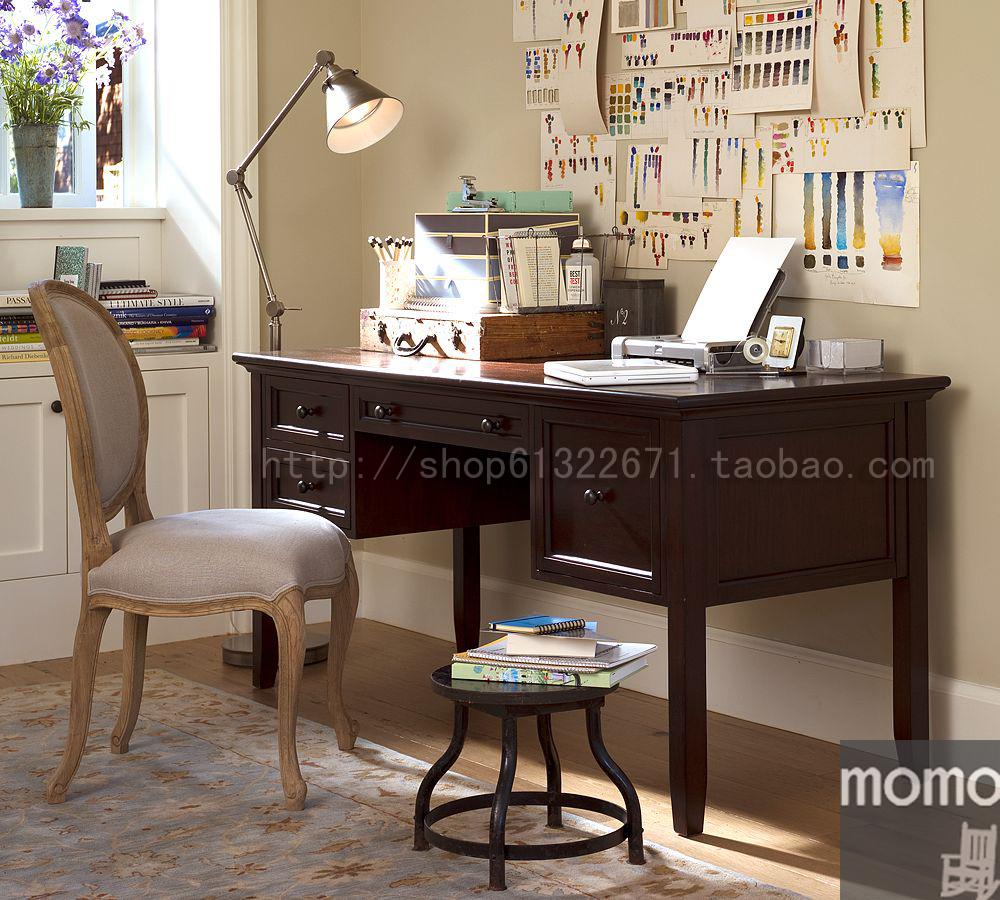 书桌 实木 电脑桌 梳妆台 乡村 美式家具定制 木木space  实拍*图片