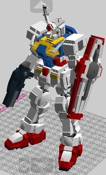 lego乐高创意搭建图纸 189 乐高图纸 高达机器人 gundam lego moc图片