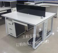 广东深圳东莞办公家具办公桌 时尚现代 四人组合位办公台 钢木台