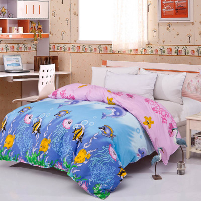 Dai Laier Aloe single piece comforter sets underwater world sanding single double quilt special offer free shipping B3009