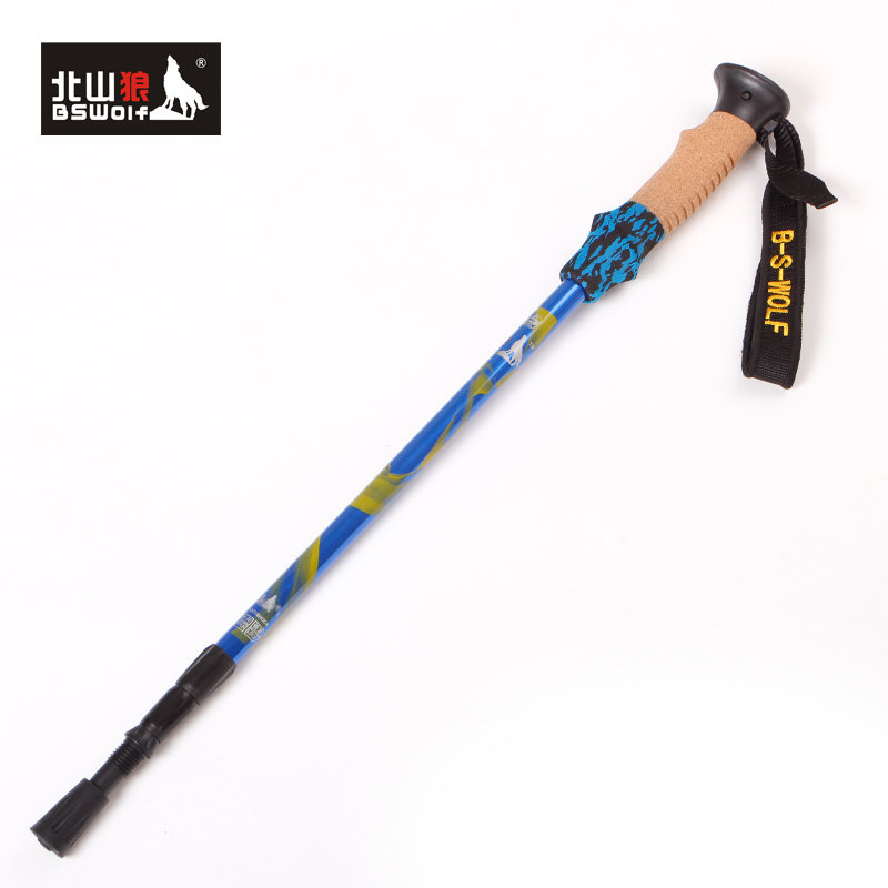 Wolf Outdoor ultralight trekking poles trekking poles, Beishan mountains, authentic aluminum 7,075 stick straight shank DL003