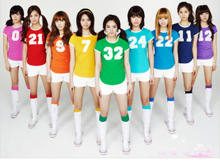 Explosive SNSD aerobics cheerleading fashion show suit dress cheerleader costume dress