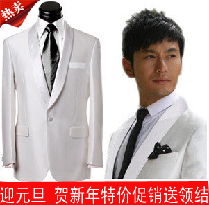 White Groom Suits