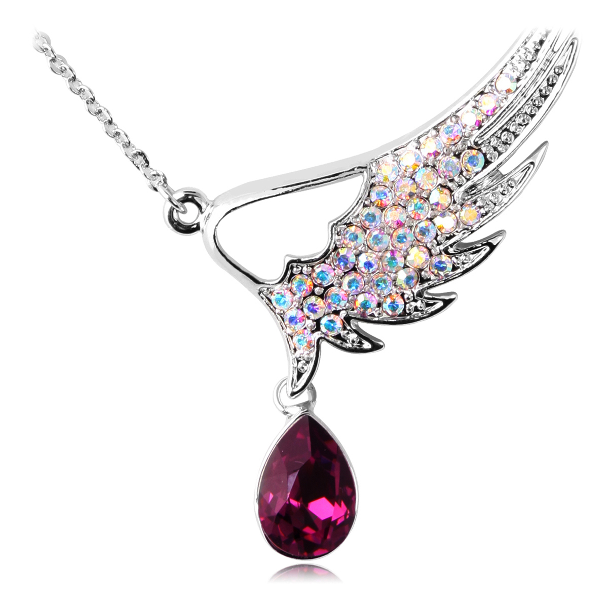 徐静蕾KAiLA 浪漫紫色亚美尼之翼项链 镶钻 时尚饰品