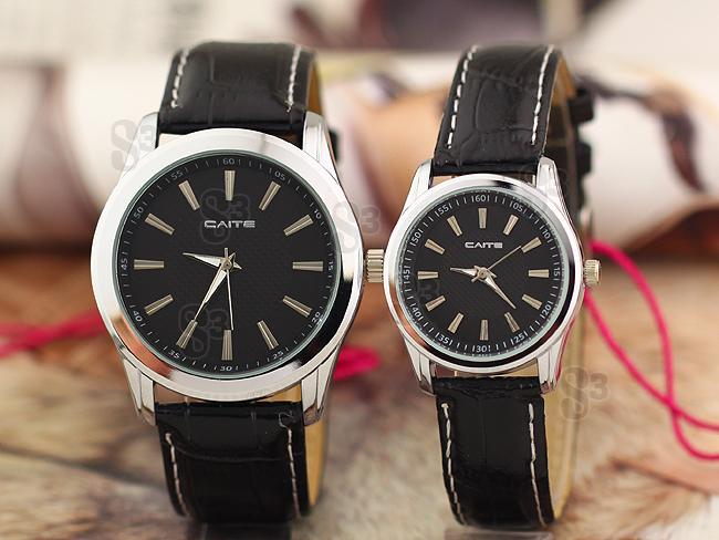 彩特手表_caite 香港彩特 情侣手表 条丁简洁 时尚 情侣对表 七夕礼品
