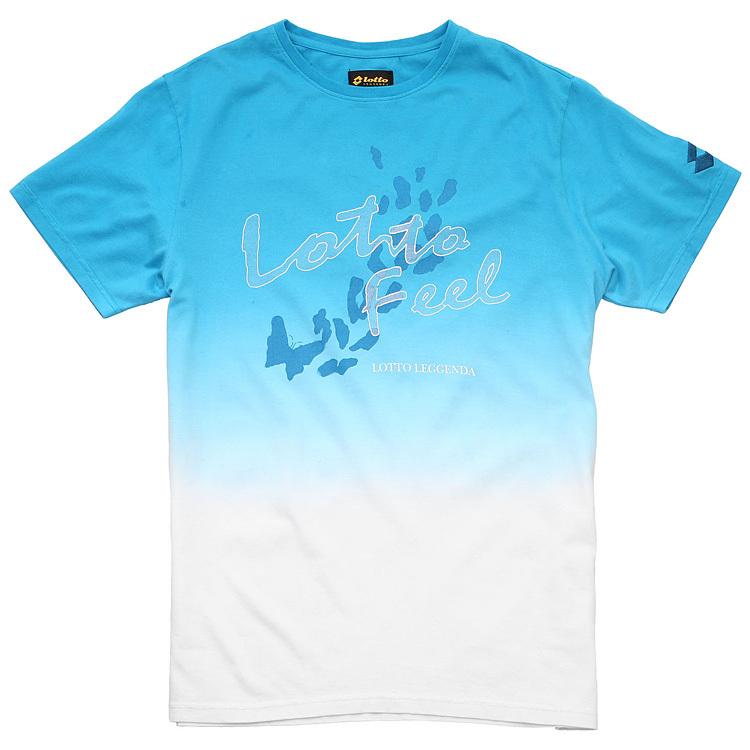 Спортивная футболка Lotto etsf077/1f ETSF077-1F SD Стандартный Воротник-стойка Короткие рукава ( ≧35cm ) 100 хлопок Логотип бренда, Рисунок