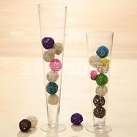 包邮欧式透明玻璃花瓶水培富贵竹百合插花瓶创意客厅餐桌花器摆件