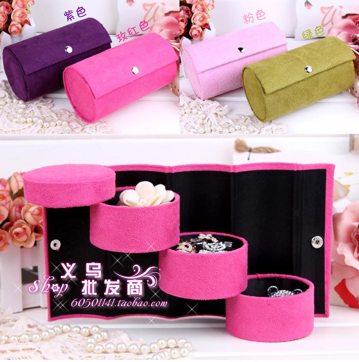 Шкатулка для хранения украшений Корейский замша старинные ювелирные изделия коробки стиль портативный ювелирных Принцесса кольцо хранения коробка ювелирных изделий