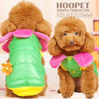 Thick winter clothes Teddy Bichon dog cat pet clothes dog clothes turned installed cotton anorak
