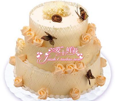 【爱相随】元祖品牌蛋糕昆山蛋糕婚礼蛋糕祝福蛋糕市区免配