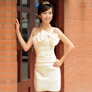 2012 new style wedding dresses-Korean version of Angel culvert Delta short shoulder bridesmaid dress skirt suit LF128