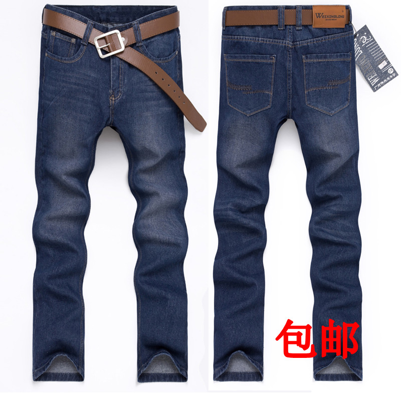 Джинсы мужские 123 123 2012 Облегающий покрой Классическая джинсовая ткань Молодежная одежда для отдыха