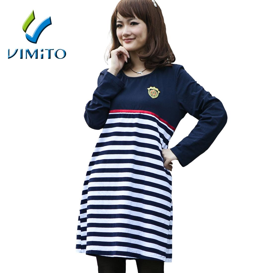 加大码孕妇装秋装新品韩版 纯棉孕妇裙子 韩国孕妇连衣裙C5308