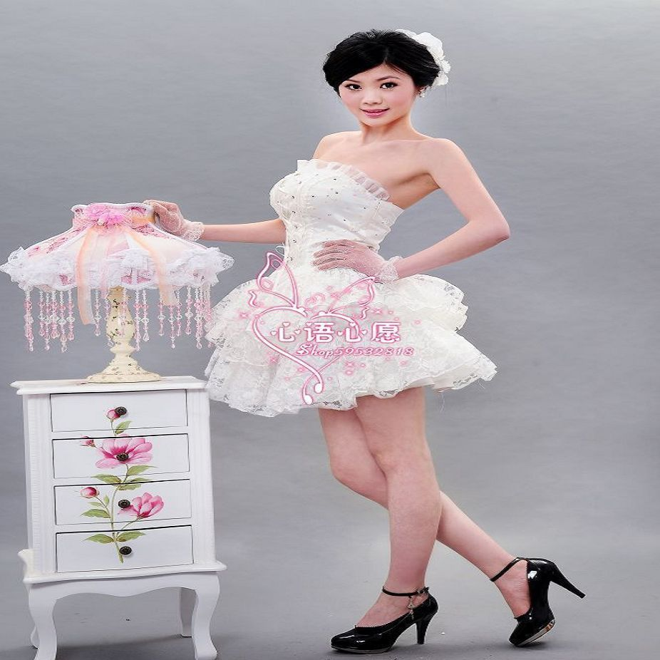 Свадебное платье Сучжоу завода Прямая пользовательского этапа наряды костюмы 2012 Taobao горячие фотографии Кружево Мини