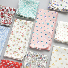 South Korea authentic livework rural style multifunctional cotton small square scarves Sweat towels handkerchief floret
