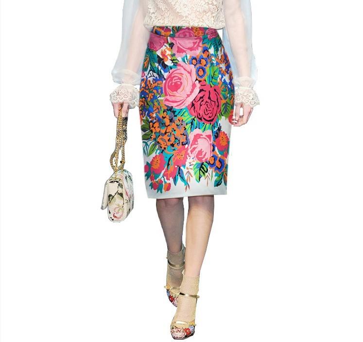 DOMEYA Осень 2012 Рисунок в цветочек Средняя юбка