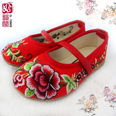 Special offer free shipping old Beijing cloth shoes embroidered shoes for children perform a dance shoes girls princess shoes, canvas shoes