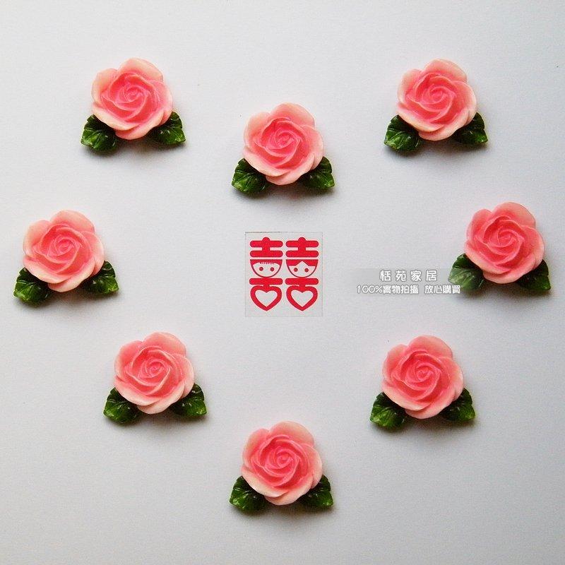 Наклейка Подлинное розовых роз японской ферме Холодильник магнит/креативный магнит свадебный номер макет дома (2-6) Цветы