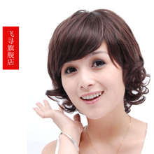 Wig short hair new style brand wigs girls female flies homing elderly wigs in short hair round face puff