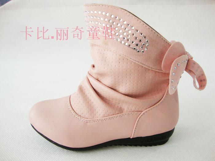 2012春秋卡比.丽奇童鞋专柜正品韩版女童靴子皮靴单鞋单靴26-37码
