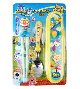 Childeku Korean baby baby nano silver cutlery to eat non-slip bowl drinking cup bowl spoon fork training delivery Gift Set