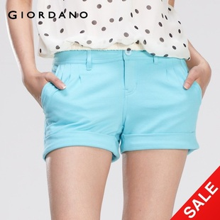 Snap up limited edition Giordano shorts for ladies ' curling breathable knit shorts in summer 01400408