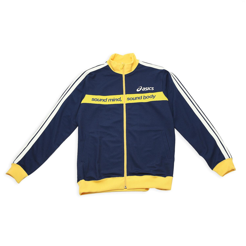Спортивная куртка Asics xaz108/5200 XAZ108-5200 Для мужчин О-вырез Молния Для спорта и отдыха Логотип бренда Удерживающая тепло