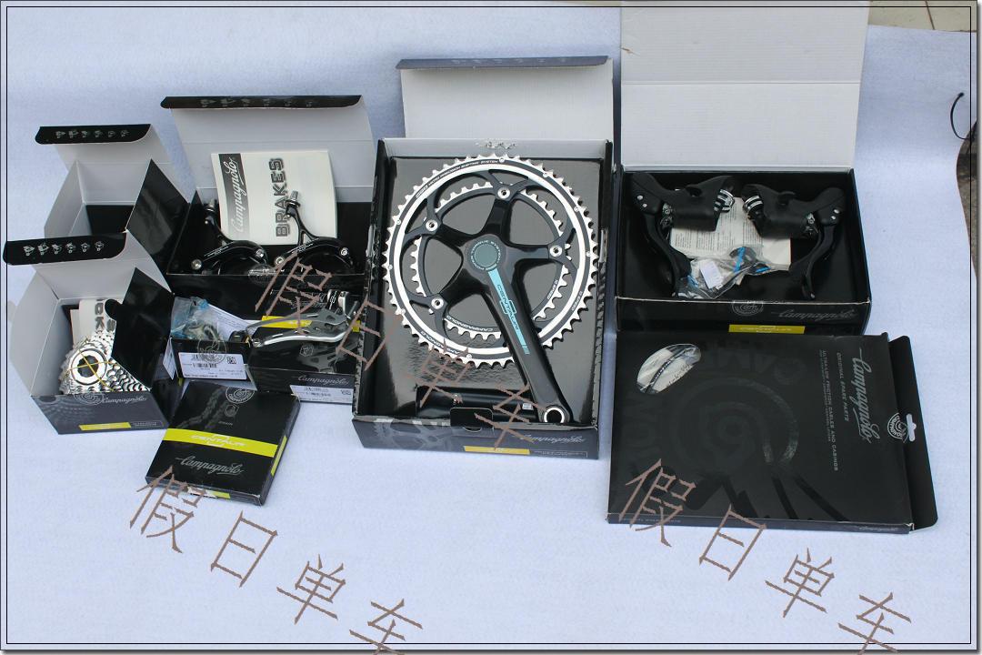 Переключение передач для велосипеда Коробочная версия аутентичный итальянский 2012 Campagnolo Кентавр комплект черного алюминия
