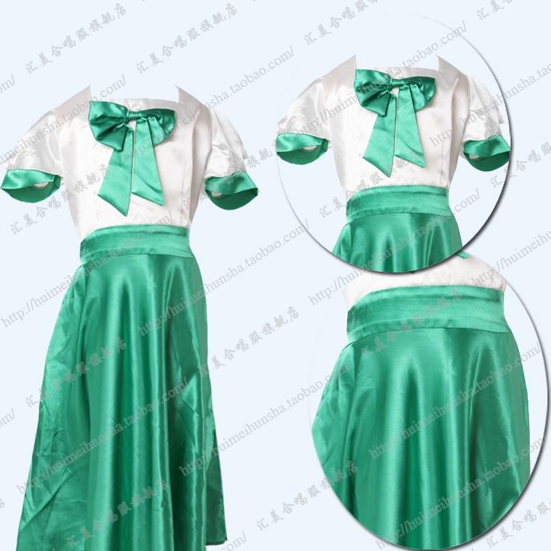 儿童合唱服 女子演出服 少儿舞蹈表演连衣裙定做 厂家直销