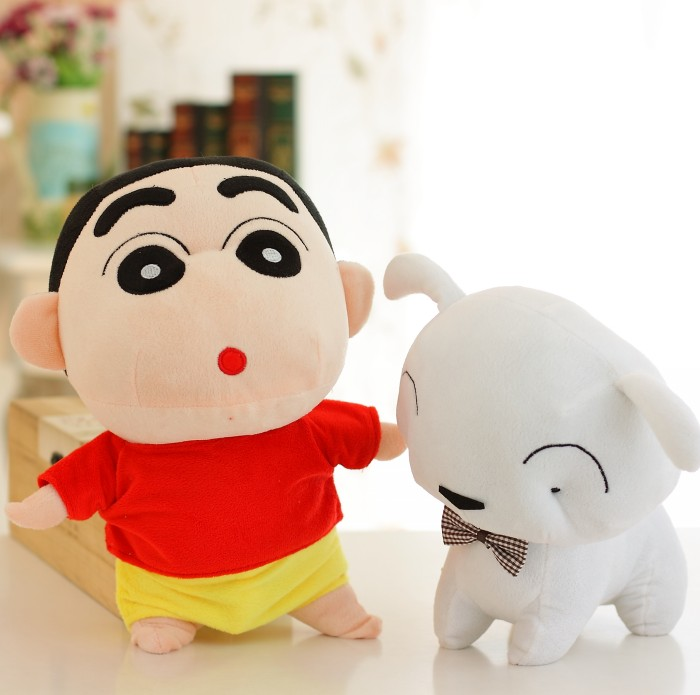 蜡笔小新毛绒玩具迅雷波普公仔小新布娃娃带小狗的娃娃包邮大象玩偶创意图片