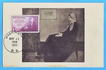 1678 U.S. 1952 stamp whistler paintings Mother melaka