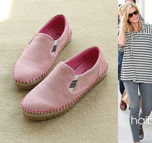 Spring/summer 2012 new retro pockmark hand sewing candy color canvas shoes casual lovers danxie