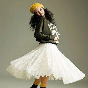 SZ Однотонный цвет Макси-юбка