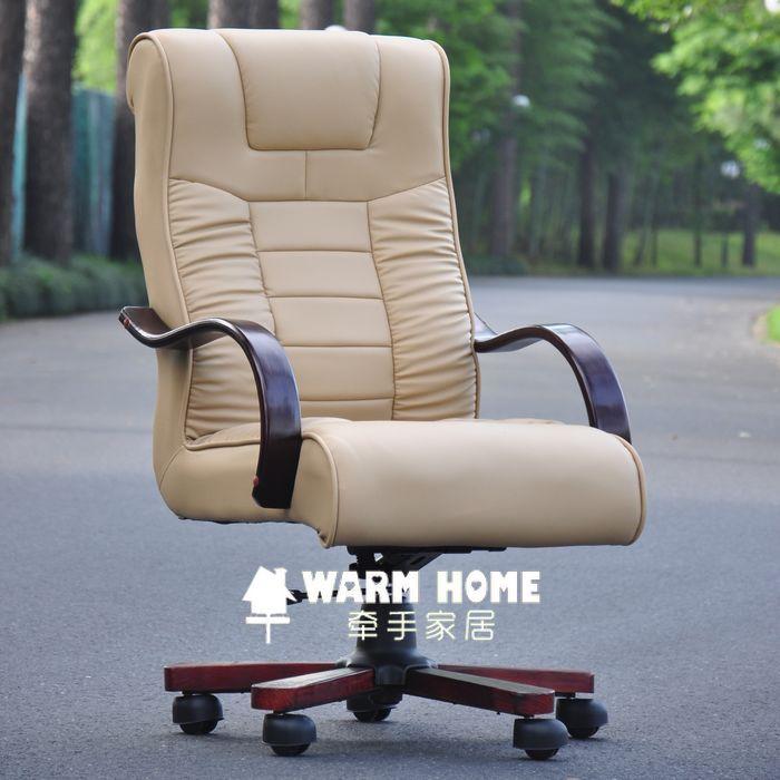 Кресло для руководителя Специальные предложения по электронной почте атмосфера удобной вращающееся кресло Делюкс Исполнительного председателя в твердой древесины босс стулья компьютер офисный стул стул Кожа