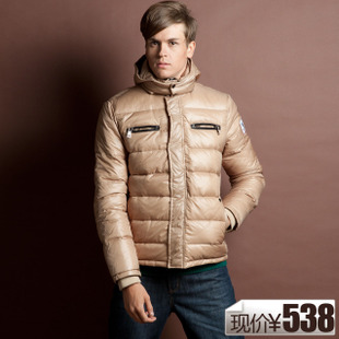 70 percent clearance for posting new men's men's thick Delta short gloss of England even  hat down jacket down jacket