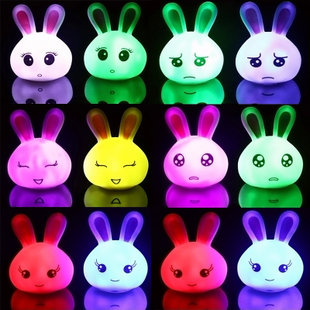 Three golden delicious and creative night light lamp の naughty rabbit speaks very fancy colorful slide 65g